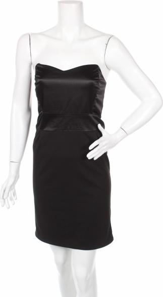 Czarna sukienka JUST FEMALE mini gorsetowa