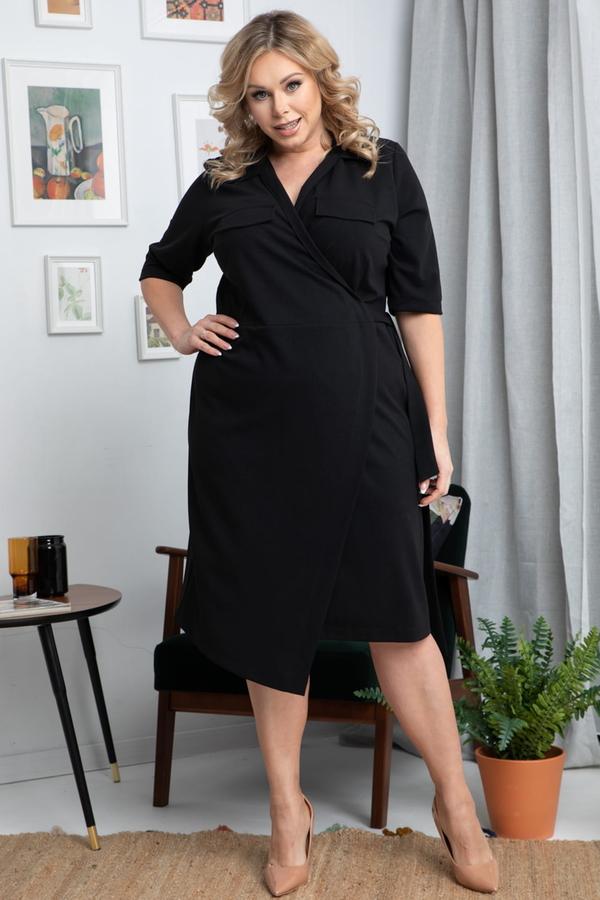 Czarna sukienka KARKO midi