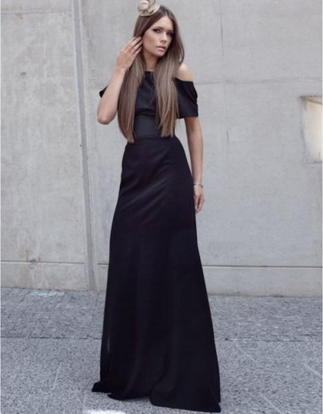 Czarna sukienka Kasia Zapała maxi