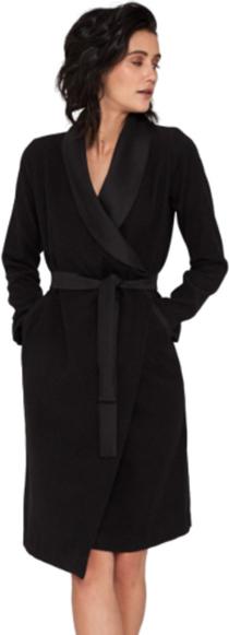 Czarna sukienka Klaudyna Cerklewicz z długim rękawem