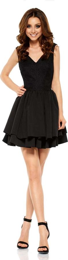 Czarna sukienka Lemoniade mini z dekoltem w kształcie litery v