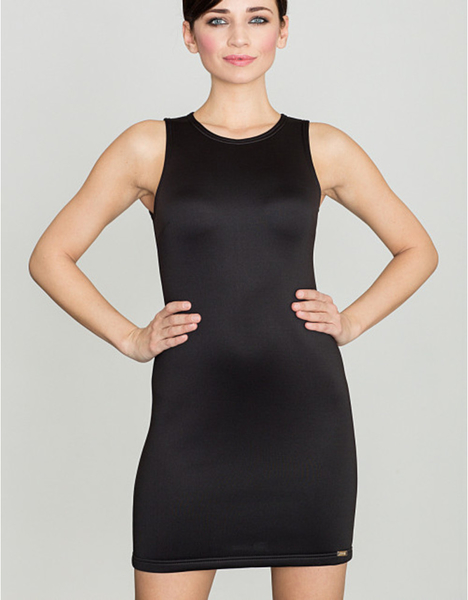 Czarna sukienka LENITIF mini
