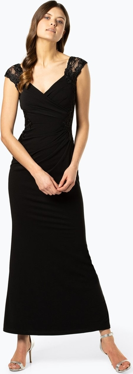Czarna sukienka Lipsy z dekoltem w kształcie litery v bez rękawów maxi