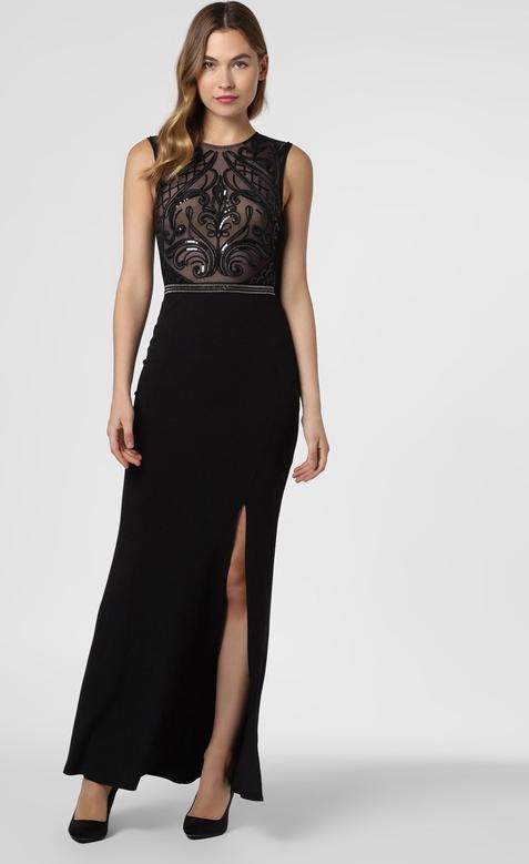 Czarna sukienka Lipsy z okrągłym dekoltem bez rękawów prosta