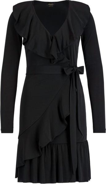 Czarna sukienka Liu-Jo z długim rękawem w stylu casual