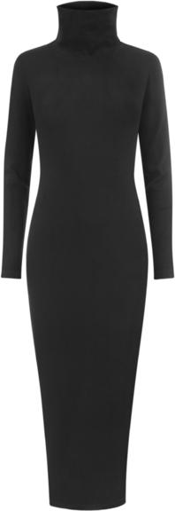 Czarna sukienka Marlu z golfem