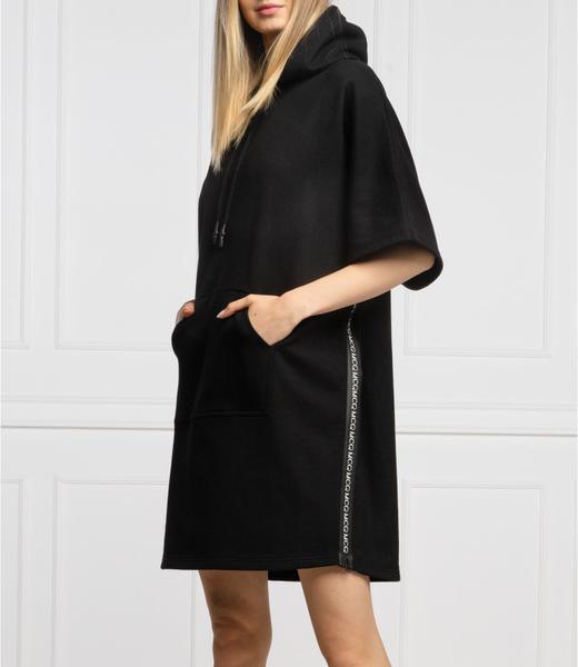 Czarna sukienka McQ Alexander McQueen z długim rękawem