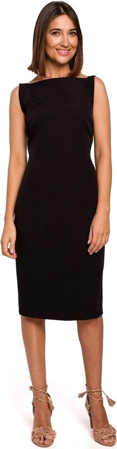 Czarna sukienka Merg ołówkowa