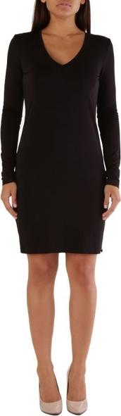 Czarna sukienka Met z długim rękawem mini