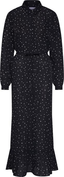 Czarna sukienka MICHALSKY FOR ABOUT YOU z długim rękawem w stylu casual midi