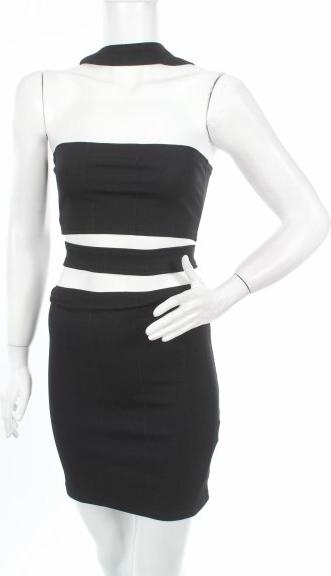 Czarna sukienka Missi w stylu casual gorsetowa