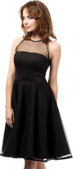 Czarna sukienka MOE bez rękawów z tiulu