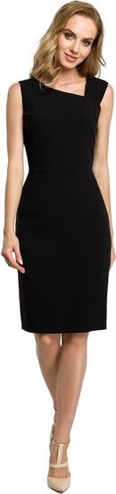Czarna sukienka MOE bez rękawów z tkaniny ołówkowa