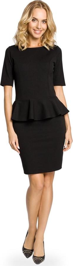 Czarna sukienka MOE ołówkowa