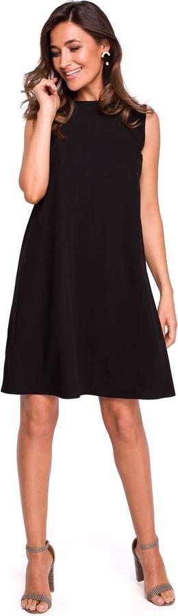 Czarna sukienka MOE trapezowa mini bez rękawów