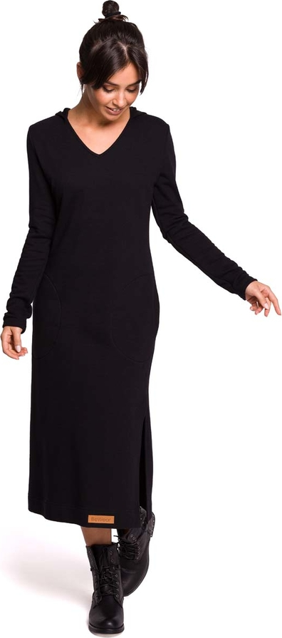Czarna sukienka MOE w stylu casual maxi