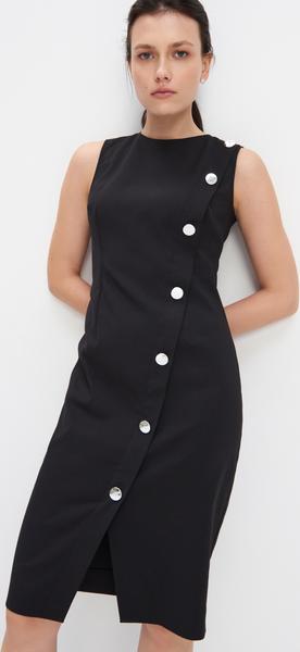 Czarna sukienka Mohito dopasowana