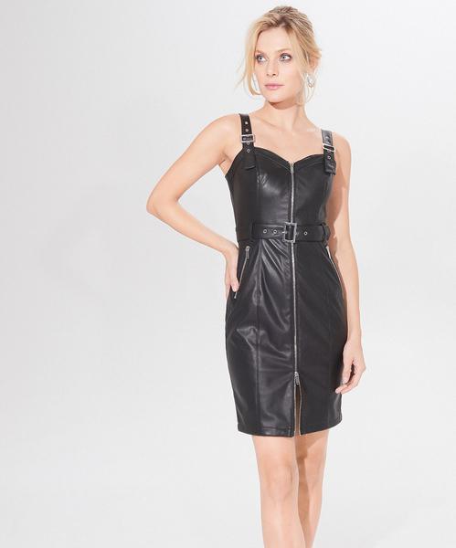 Czarna sukienka Mohito dopasowana z długim rękawem