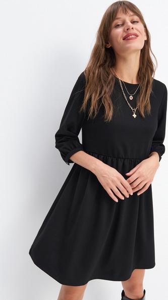 Czarna sukienka Mohito z długim rękawem mini