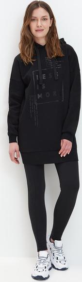 Czarna sukienka Mohito z dresówki mini w stylu casual