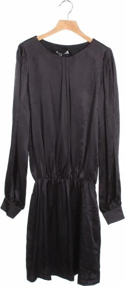 Czarna sukienka Moods Of Norway z okrągłym dekoltem mini w stylu casual