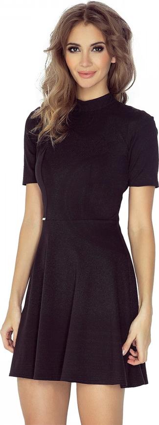 Czarna sukienka MORIMIA z krótkim rękawem