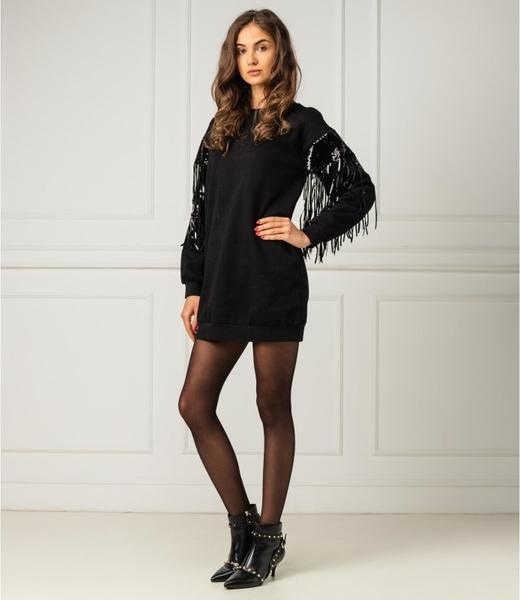 Czarna sukienka My Twin z długim rękawem