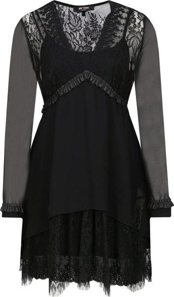 Czarna sukienka Mytwin Twinset mini