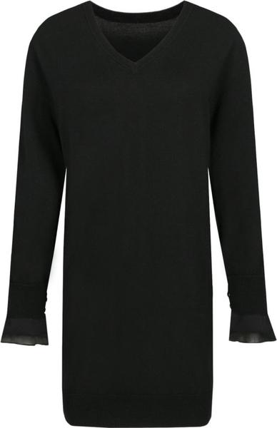 Czarna sukienka Mytwin Twinset z długim rękawem