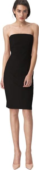 Czarna sukienka Nife z okrągłym dekoltem mini dopasowana