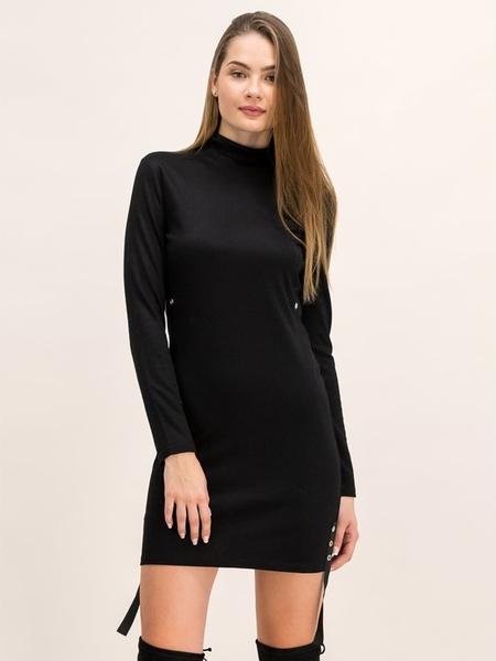 Czarna sukienka Patrizia Pepe mini w stylu casual dopasowana