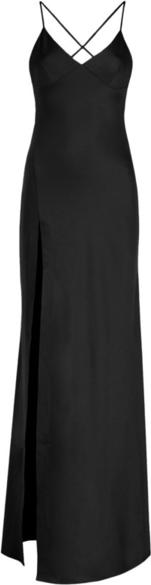 Czarna sukienka Pepe Jeans na ramiączkach maxi