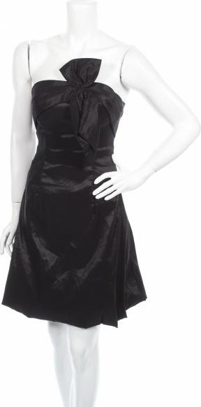 Czarna sukienka Piazza Italia bez rękawów