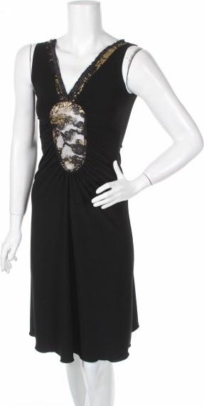 Czarna sukienka Pretty Woman mini bez rękawów