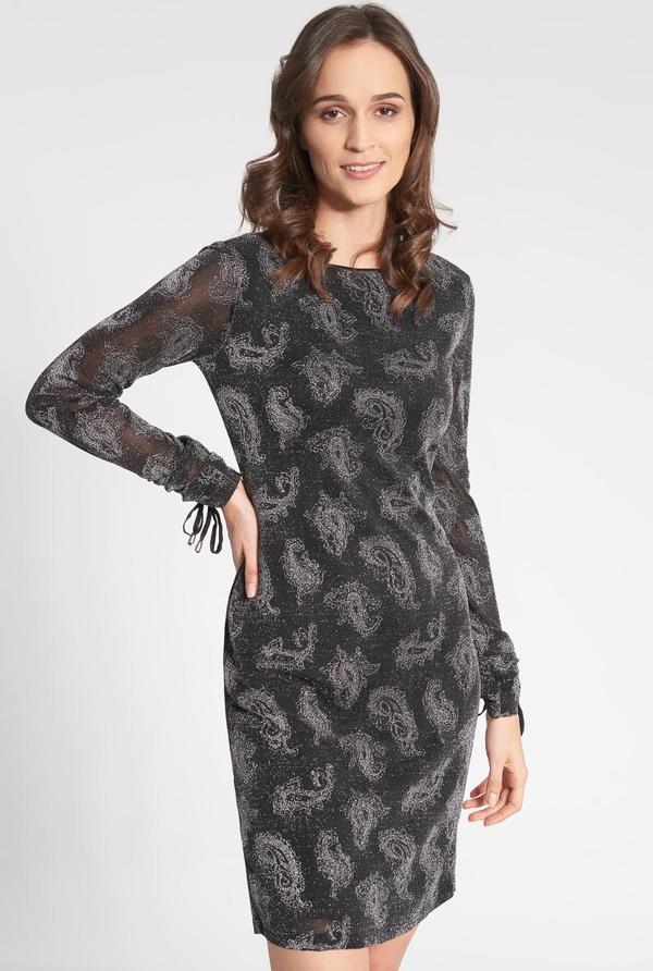 Czarna sukienka QUIOSQUE mini