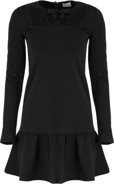Czarna sukienka Red Valentino z długim rękawem w stylu casual