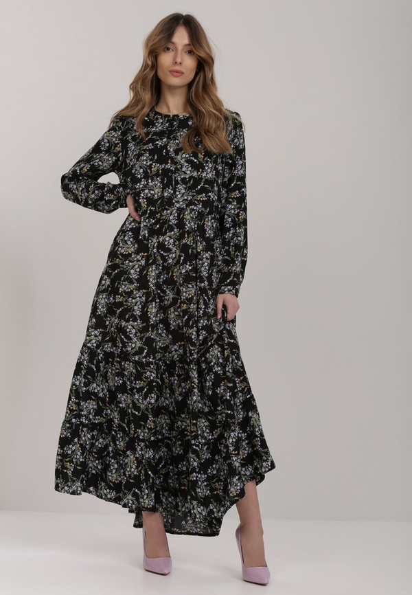 Czarna sukienka Renee maxi