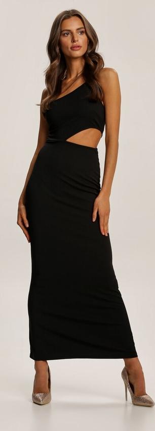 Czarna sukienka Renee maxi dopasowana