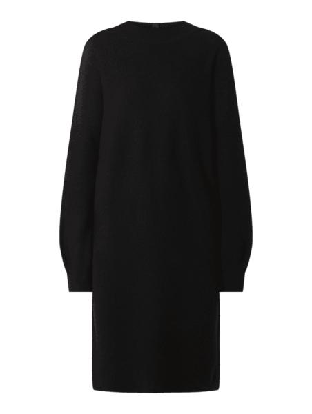 Czarna sukienka Rich & Royal z dzianiny z długim rękawem w stylu casual