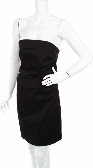 Czarna sukienka River Island bez rękawów gorsetowa