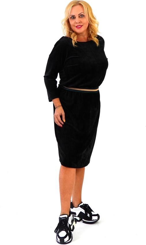 Czarna sukienka Roxana - sukienki w stylu casual