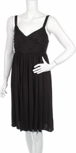 Czarna sukienka Saba z dekoltem w kształcie litery v mini na ramiączkach