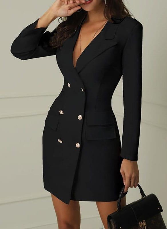 Czarna sukienka Sandbella mini z dekoltem w kształcie litery v