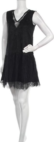 Czarna sukienka SCHOOL RAG mini bez rękawów z dekoltem w kształcie litery v
