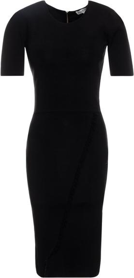 Czarna sukienka Silvian Heach w stylu casual ołówkowa midi