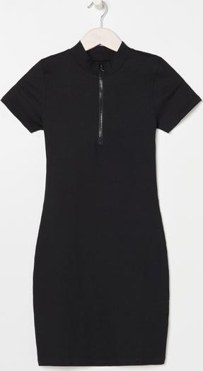 Czarna sukienka Sinsay mini z krótkim rękawem