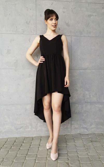 Czarna sukienka Sklepfilloo mini bez rękawów