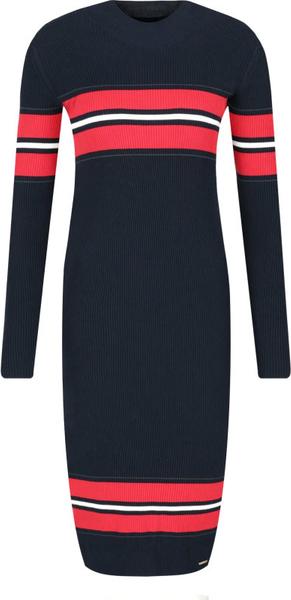 Czarna sukienka Superdry w stylu casual z okrągłym dekoltem