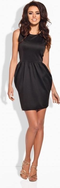 Czarna sukienka TAGLESS mini bombka