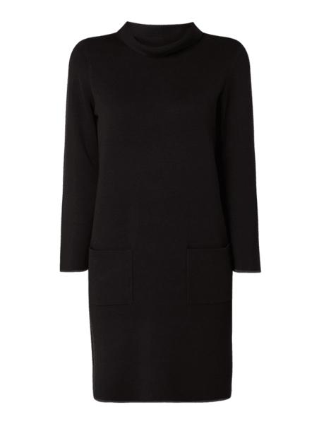 Czarna sukienka Tom Tailor z dzianiny